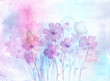 Floral background. Hand-drawn, watercolor flowers and buterflyies. Watercolor splashes and stains. Floral concept. Botanical illustration.