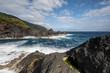 sunlight over the landscape at the Piscina Natural de Poça Simão Dias at the village of Fajã do Ouvidor, one of the most remarkable natural pools and fajas on the Azores Islands