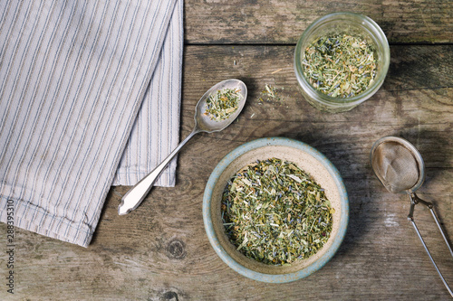 Fotografie, Tablou  Loose leaf herbal tea tablescape