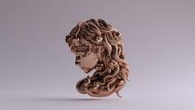 Bronze Medusa Bas Relief 3d Il...