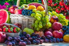Variety Of Fresh Ripe Fruits I...