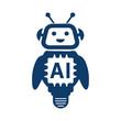 AI Artificial intelligence technology cartoon robot – for stock