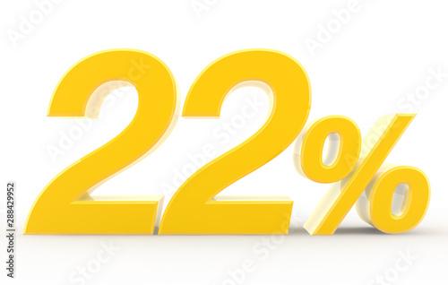 Papel de parede  22 percent on white background illustration 3D rendering