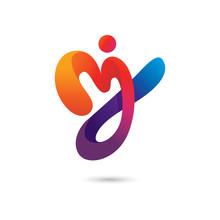 Abstract Mj Logo Premium Vector