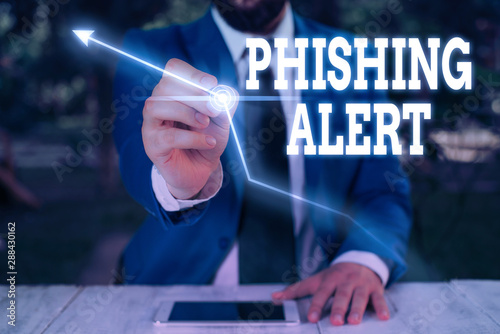 Text sign showing Phishing Alert Canvas Print