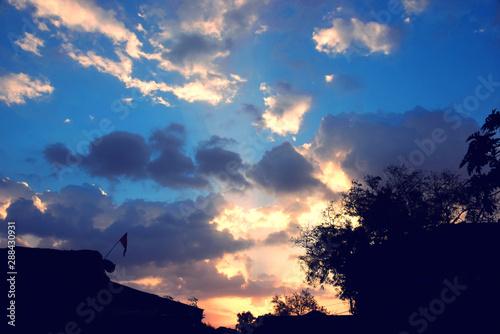 Glorious sunrise photographed Canvas Print