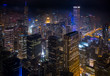 Cityscape at nightlight in Chicago,USA