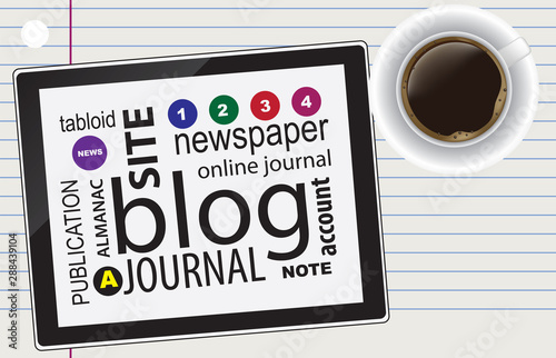 Version of newsletter is blog Canvas Print