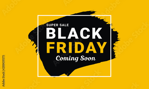 Fototapeta Black Friday  Promo Vector  Banner Design  obraz