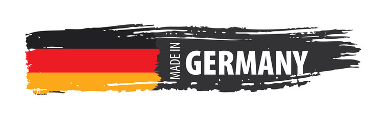 Germany flag, vector illust...