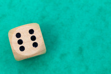 Dice With Number 6 On A Green ...