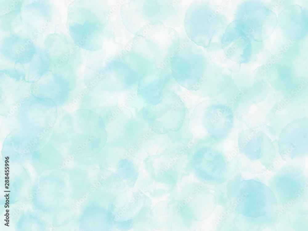 Fototapeta Abstract background with wet blue splashes.Watercolor style with gentle blots and stains.
