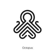 Octopus Icon Vector Symbol