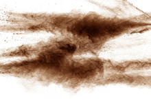 Brown Dust Cloud.Brown Particl...