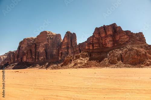 La pose en embrasure Algérie View of Wadi Rum in Jordan