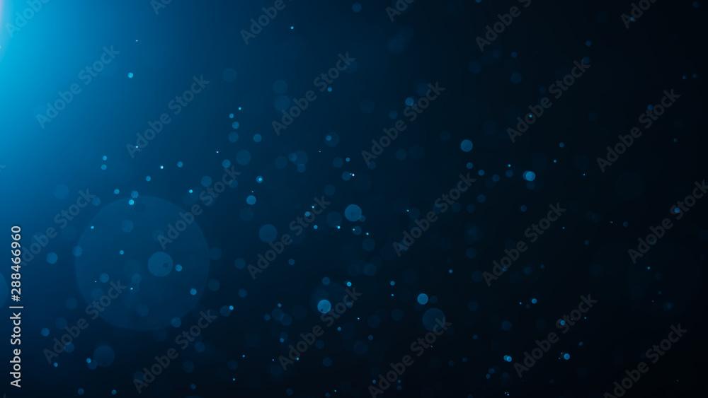 Fototapety, obrazy: Abstract Blue bokeh defocus glitter blur background.