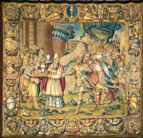 Fotografija Detail of the tapestry from Como Cathedral in Italy