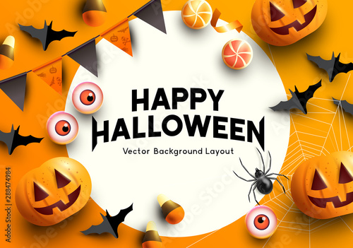 A set of halloween themed party decorations Canvas Print