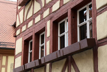 Facades Of Houses In The Old Style