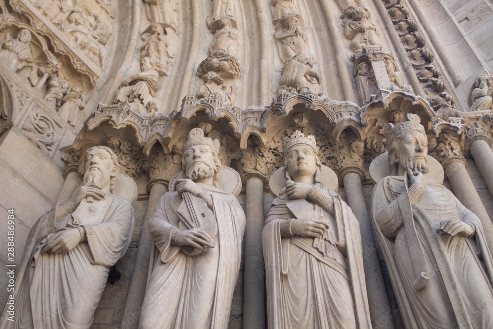 Fototapety, obrazy: Detail on Notre Dame outside before the fire