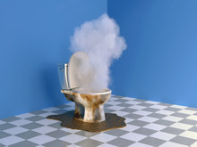 Explosion In A Clogged Toilet