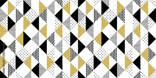obraz dibond Vector geometric seamless pattern with triangles. Modern stylish background.