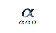 Alpha Greek Letter Icon, Isola...