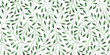 canvas print picture Seamless pattern with stylized leaves. Watercolor hand drawn illustration.