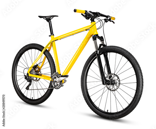 yellow black 29er mountainbike with thick offroad tyres Canvas Print