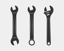 Tools Vector Wrench Icon. Span...