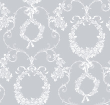 Seamless Vintage Floral Lace P...