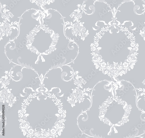 seamless vintage floral lace pattern for your design Poster Mural XXL