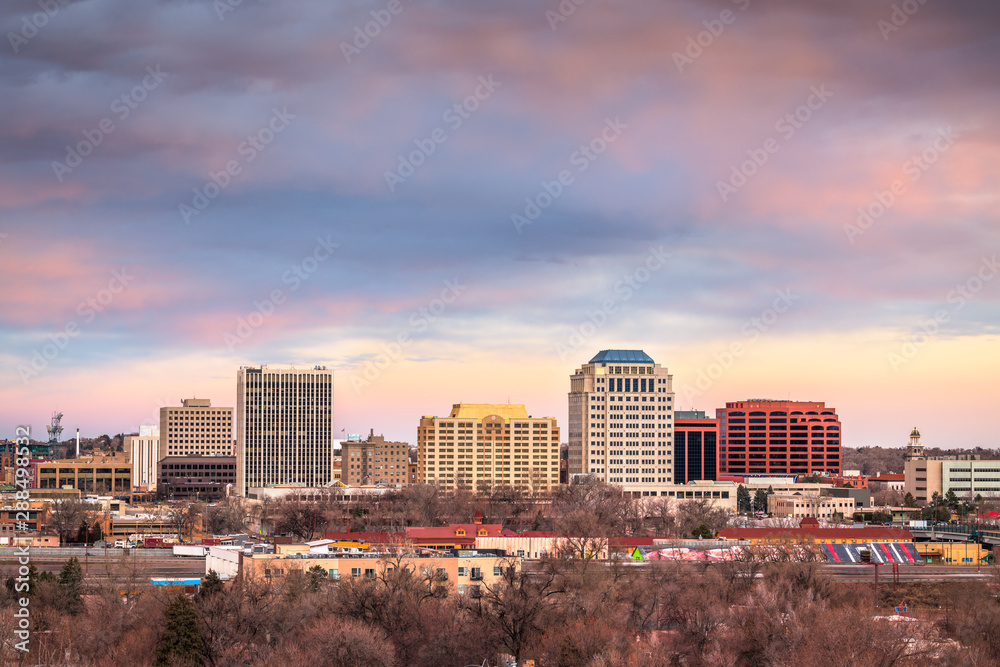Fototapety, obrazy: Colorado Springs, Colorado, USA downtown city skyline