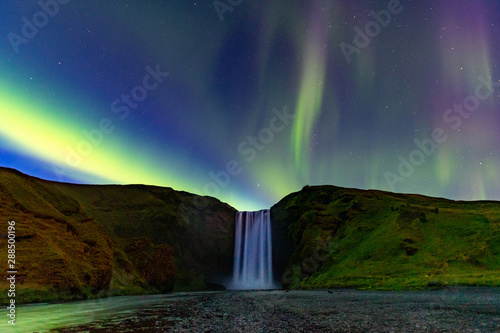 Printed kitchen splashbacks Northern lights Northern Lights In Iceland