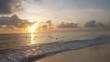 Sunrise at the beach of Punta Cana in Dominican Republic
