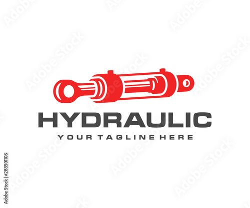 Hydraulic cylinder logo design Wallpaper Mural
