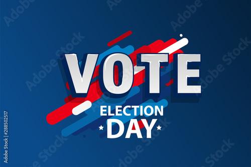 Fotografie, Obraz 2020 Vote in USA american president banner