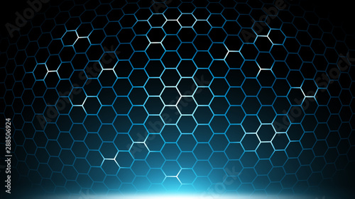 blue abstract hexagon technology background futuristic hexagon pattern tech electronic innovative background future background buy this stock vector and explore similar vectors at adobe stock adobe stock blue abstract hexagon technology