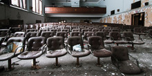 Chairs Of The Auditorium Remai...