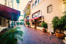 Elegant Alley In Downtown Sant...