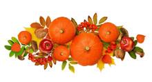 Autumn Arrangement With Pumpki...