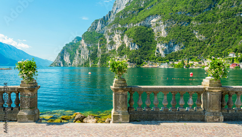 The picturesque town of Riva del Garda on Lake Garda Canvas Print