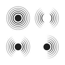 Set Of Radar Icons. Sonar Soun...