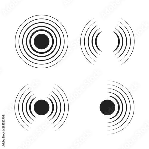 Cuadros en Lienzo  Set of radar icons
