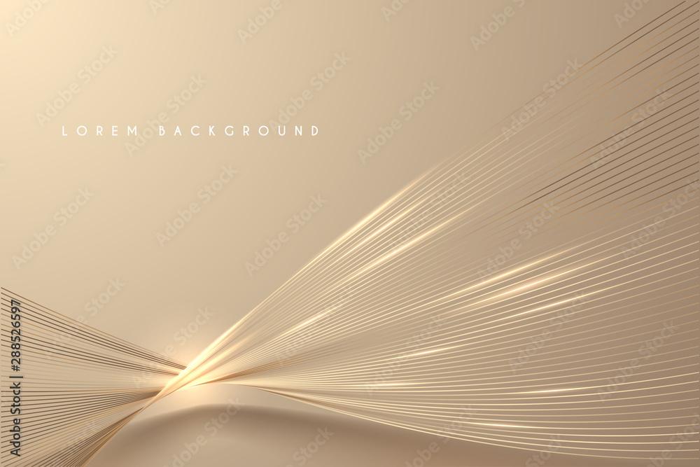 Obraz Abstract gold light threads background fototapeta, plakat