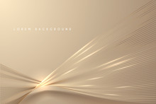 Abstract Gold Light Threads Background
