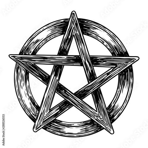Pentagram drawing Wallpaper Mural