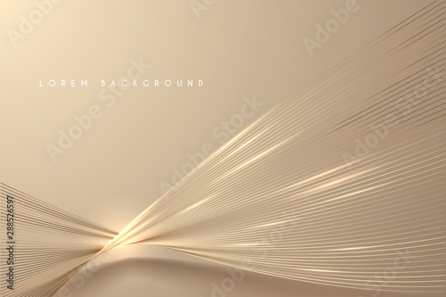 Fototapeta Abstract gold light threads background obraz