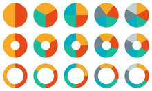 Pie Chart Set. Colorful Diagra...