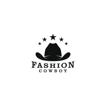 Cowboy Hat Logo Design - Silhouette Simple
